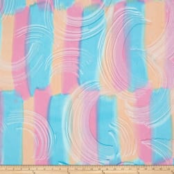 Bali Brushstroke Batiks Wavy Brush Sherbet Fabric