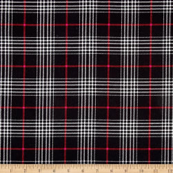 Timeless Treasures Oxford Flannel Glen Plaid Black Fabric
