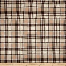 Timeless Treasures Oxford Flannel Textured Plaid Natural Fabric
