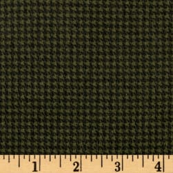 Timeless Treasures Oxford Flannel Mini Houndstooth Green Fabric