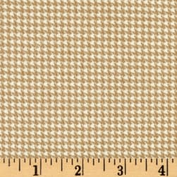 Timeless Treasures Oxford Flannel Mini Houndstooth Wheat Fabric