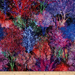 All Aglow Digital Lighted Trees Gemstone Fabric