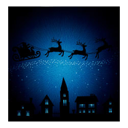 Supernova Seasons Digital Santa Sleigh Silhouette 44