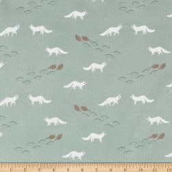 Dear Stella Flannel Winter Cabin Artic Fox Cameo