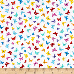 Timeless Treasures Prism Mini Butterflies White