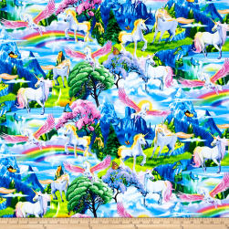 Timeless Treasures Magical Gardens Unicorns Multi Fabric