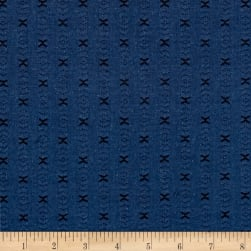Intermix Dobby Shirting X Pattern Blue Fabric