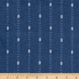 Intermix Dobby Shirting Dot Blue Fabric
