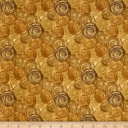 108'' Flannel Textured Circles Tan Fabric