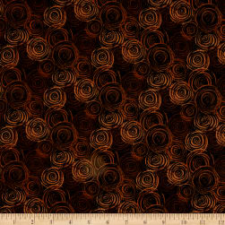 108'' Flannel Textured Circles Brown Fabric