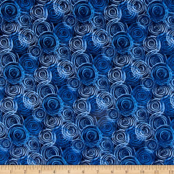 "108"" Flannel Textured Circles Blue"