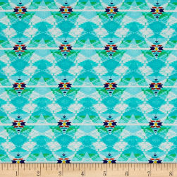 Pow Wow Aztec Stripe Turquoise Fabric