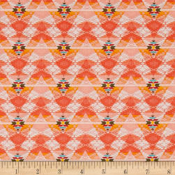 Pow Wow Aztec Stripe Peach Fabric