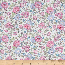 Liberty Fabrics Classic Tana Lawn Felicite White/Pink