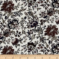 Liberty Fabrics Classic Tana Lawn Christelle White/Purple Fabric