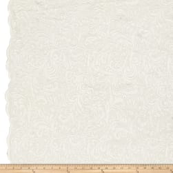 Telio Angelina Embroidery Mesh Lace White Fabric