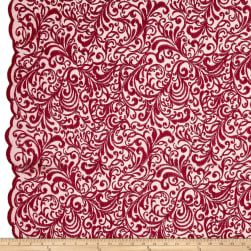 Telio Angelina Embroidery Mesh Lace Red Fabric