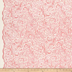 Telio Angelina Embroidery Mesh Lace Pink Fabric