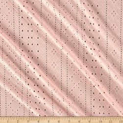 Telio Stretch Jersey Knit Eyelet Pink Fabric