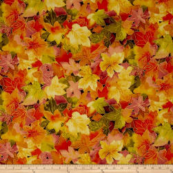Autumn Air Metallic Forest Floor Mulberry Fabric