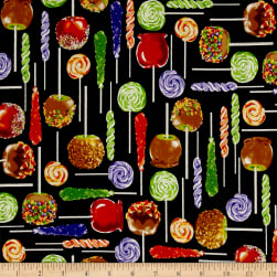 Spooky Snacks Sticky Situation Midnight Fabric