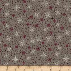 Frosty Friends Snowflakes & Kisses Chocolate Custard Fabric