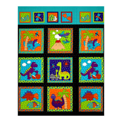 Dino Daze Dino Panel Multi Fabric