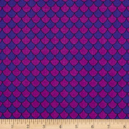 Dino Daze Scales Purple Fabric