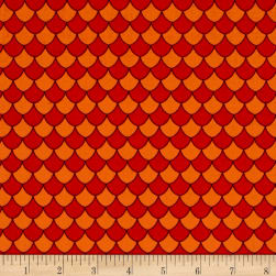 Dino Daze Scales Red Fabric