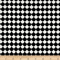 Dino Daze Scales Black Fabric