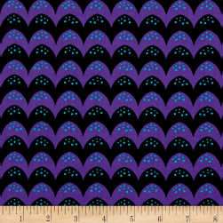Dino Daze Bumps Purple/Black Fabric