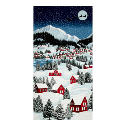 "Merry, Berry & Bright Metallic Night Before Christmas 24"" Panel December"