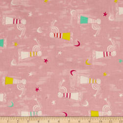 Cotton + Steel Noel Angel Singing Pink Fabric