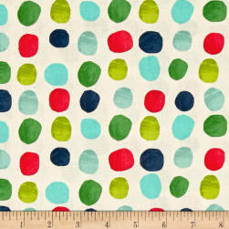 Cotton + Steel Noel Painted Dots Blue