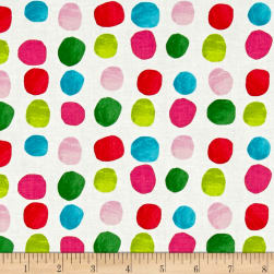 Cotton + Steel Noel Painted Dots Pink Fabric
