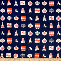 Cotton + Steel Noel Wrapped Up Navy Fabric
