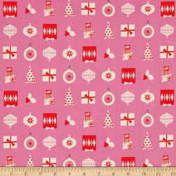 Cotton + Steel Noel Wrapped Up Pink Fabric