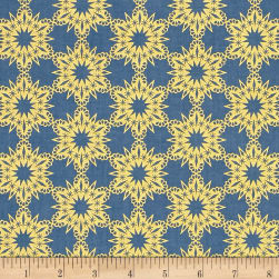 Cotton + Steel Noel Metallic Golden Flakes Blue