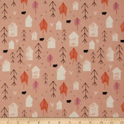 Cotton + Steel Cozy Neighbor Peach Fabric