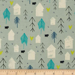 Cotton + Steel Cozy Neighbor Mint Fabric