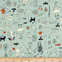 Cotton + Steel Lil' Monsters Party Mint Fabric