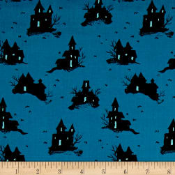 Cotton + Steel Lil' Monsters Trick Or Treat Teal
