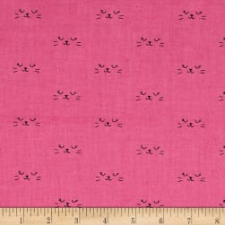Cotton + Steel Lil' Monsters Neko Purple Fabric