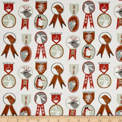 Dear Stella Folkwood Badges White Fabric