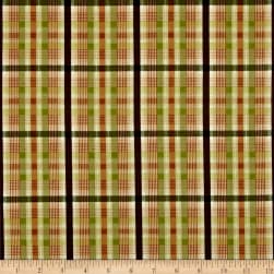 Timeless Treasures Wilderness Plaid Nature Fabric