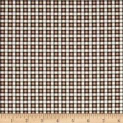 Timeless Treasures Wilderness Mini Plaid Tan