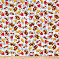 Timeless Treasures Foodie Picnic Foods Picnic Fabric