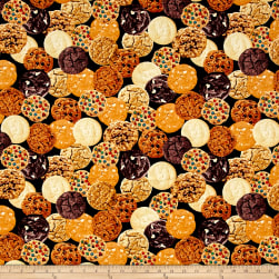 Timeless Treasures Foodie Mixed Cookies Cookie Fabric