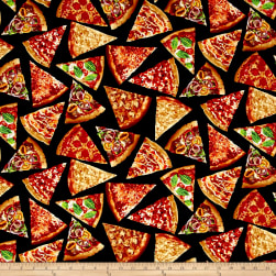 Timeless Treasures Foodie Pizza Slices Pizza Fabric