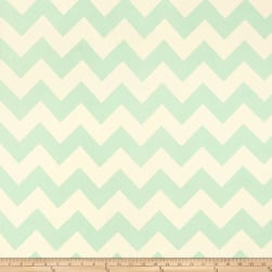 Dobby Crepe Chevron Mint/Natural Fabric